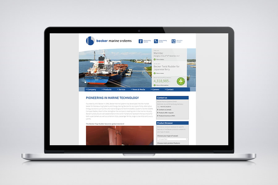 Becker Marine Systems - Responsive Contao Website