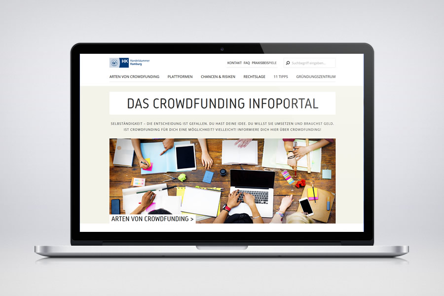 Crowdfunding Hamburg - Contao Website