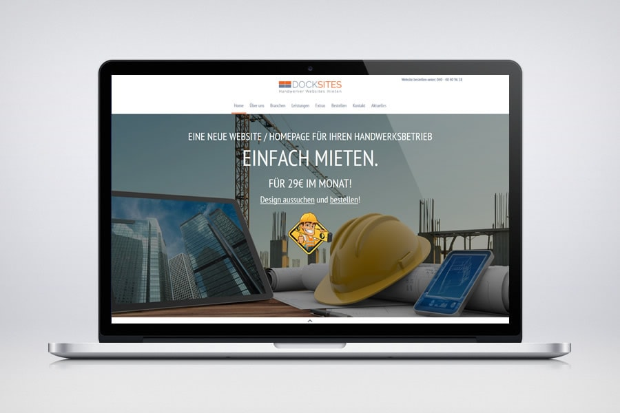 Docksites - Website & Homepages für Handwerker - Contao Website& Webdesign