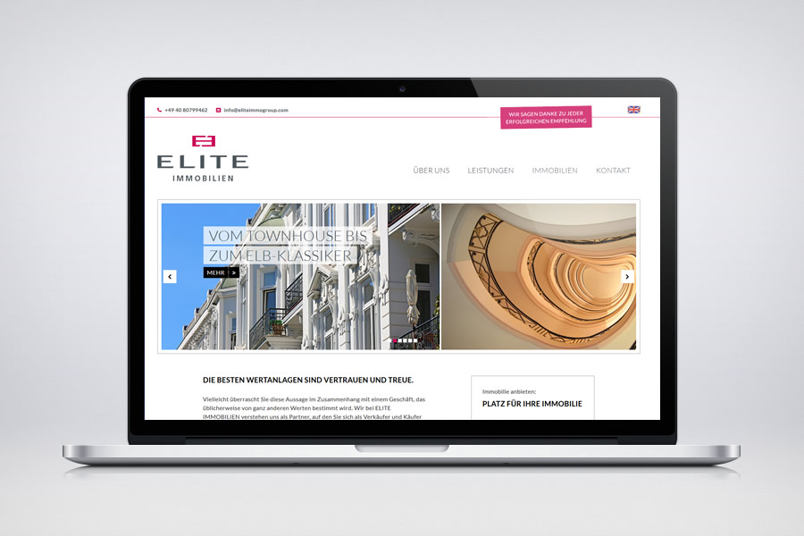 ELITE IMMOBILIEN - Contao Website