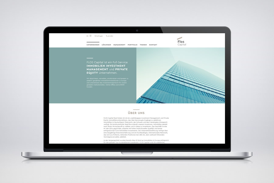 Flos Capital - Responsive Contao Website