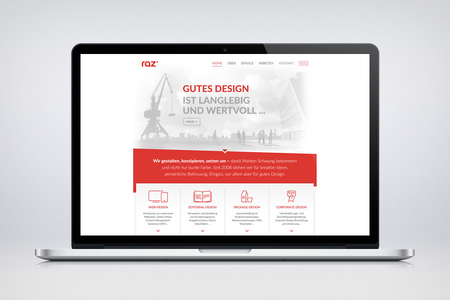 raz design - Responsive Contao Website