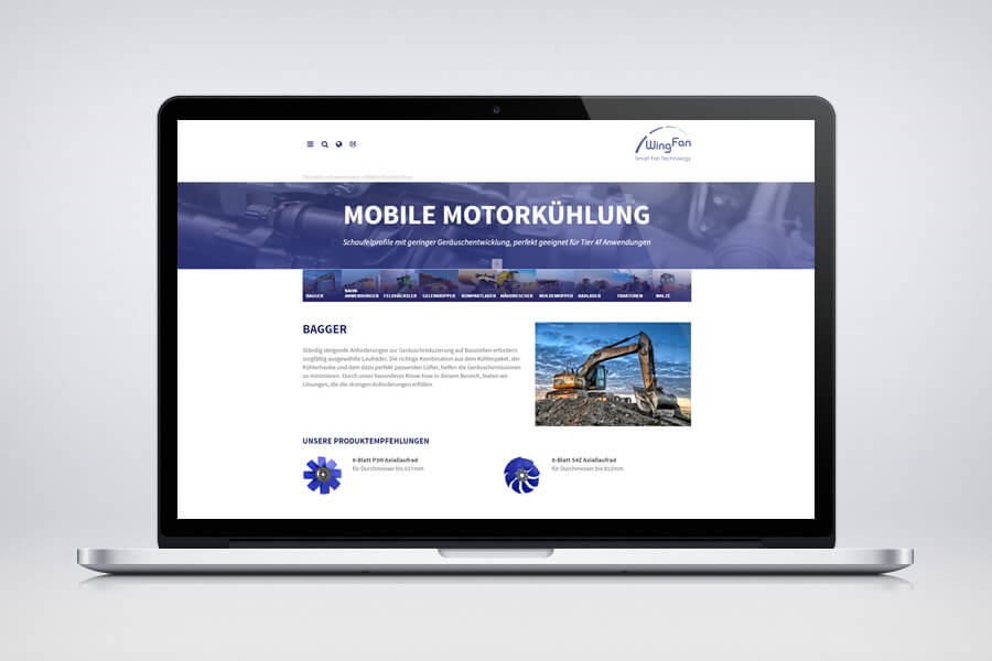 WingFan - Responsive Contao Website